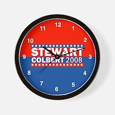 stewart/colbert 08 Wall Clock