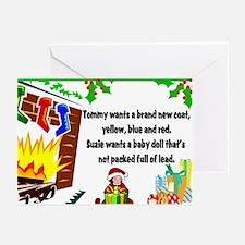 Lead Christmas Toys Christmas Cards (10 pack)