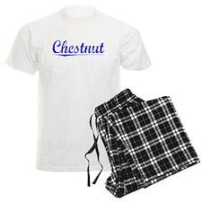 Chestnut, Blue, Aged Pajamas