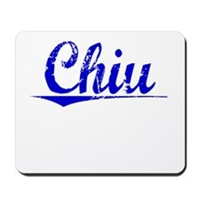 Chiu, Blue, Aged Mousepad