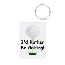 golfball large Id rather be golfing.png Keychains