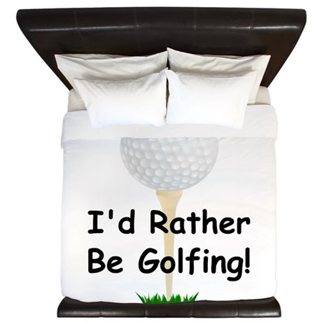 golfball large Id rather be golfing.png King Duvet