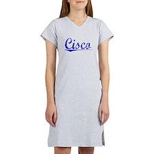 Cisco, Blue, Aged Women's Nightshirt