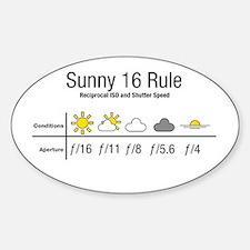 Sunny 16 Rule Decal