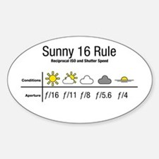 Sunny 16 Rule Stickers