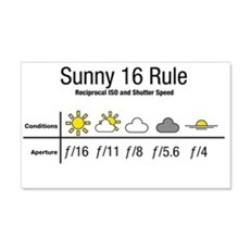 Sunny 16 Rule Wall Decal