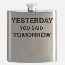 Yesterday you said tomorrow Flask