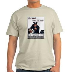 Stop Protesting Ash Grey T-Shirt