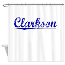 Clarkson, Blue, Aged Shower Curtain
