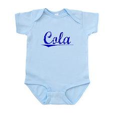 Cola, Blue, Aged Infant Bodysuit