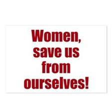 women save us Postcards (Package of 8)