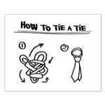 How to tie a tie Small Poster