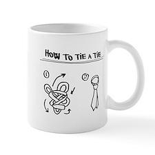 How to tie a tie Mug