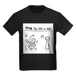 How to tie a tie Kids Dark T-Shirt