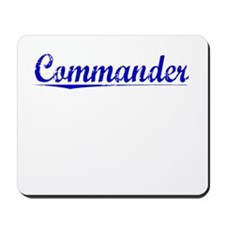 Commander, Blue, Aged Mousepad