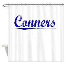 Conners, Blue, Aged Shower Curtain