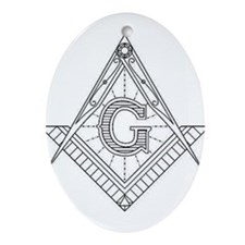 Lucid Square and Compasses Ornament (Oval)