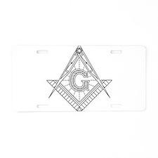 Lucid Square and Compasses Aluminum License Plate