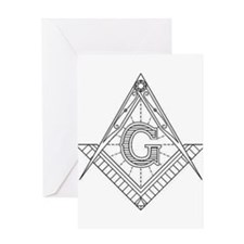Lucid Square and Compasses Greeting Card