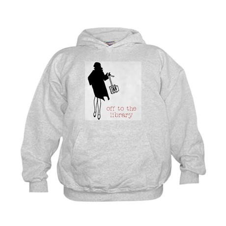 Off to the Library Kids Hoodie