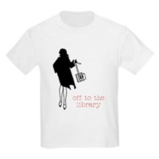 Off to the Library Kids T-Shirt