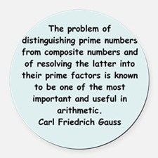 gauss6.png Round Car Magnet
