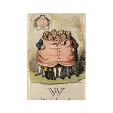 W is for Waistcoat Rectangle Magnet