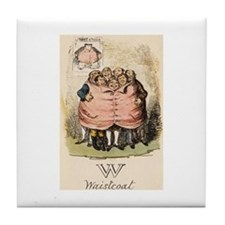 W is for Waistcoat Tile Coaster