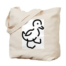Hand Drawn Duck Tote Bag
