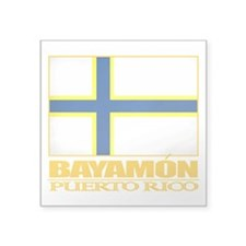 "Bayamon Flag2.png Square Sticker 3"" x 3"""