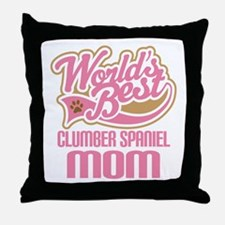 Clumber Spaniel Mom Throw Pillow