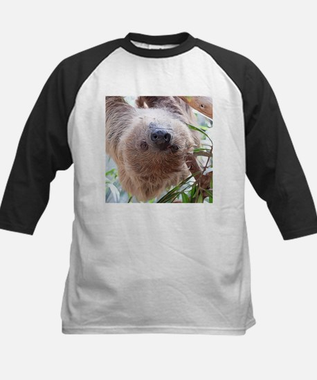 cute sloth in the tree Baseball Jersey