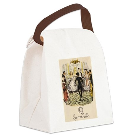 Q is for Quadrille Canvas Lunch Bag