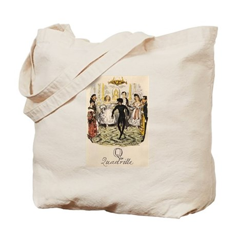 Q is for Quadrille Tote Bag