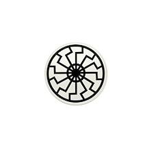 Black Sun Mini Button