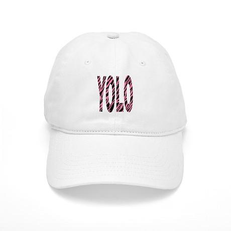 YOLO pink zebra stripes Cap