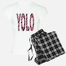YOLO pink zebra stripes Pajamas