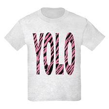 YOLO pink zebra stripes T-Shirt