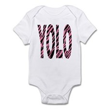 YOLO pink zebra stripes Infant Bodysuit