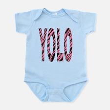 YOLO pink zebra stripes Infant Bodysuit