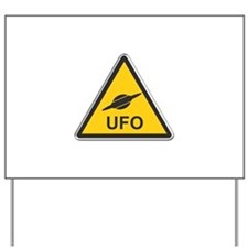 UFO Yard Sign