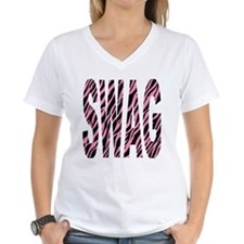 SWAG pink zebra stripes Shirt