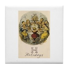 H is for Holidays Tile Coaster