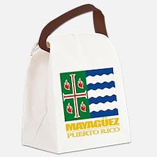 Mayaguez Flag.png Canvas Lunch Bag