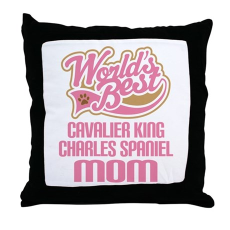 Cavalier King Charles Spaniel Mom Throw Pillow