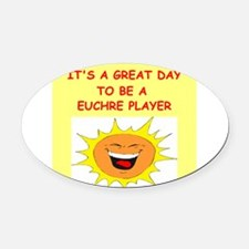 EUCHRE.png Oval Car Magnet