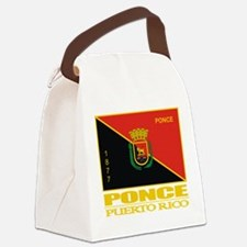 Ponce Flag.png Canvas Lunch Bag