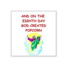 "POPCORN.png Square Sticker 3"" x 3"""