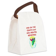 REPORTERS.png Canvas Lunch Bag