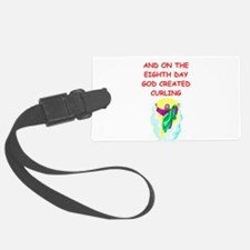 CURLING.png Luggage Tag